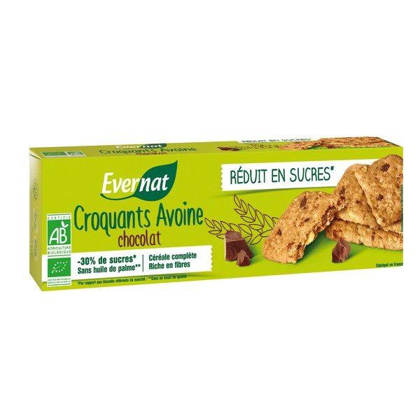 3014725 Croquants avoine chocolat réduit en sucres