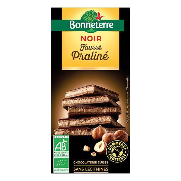 bonneterre-chocolat-noir-fourre-praline-100gr