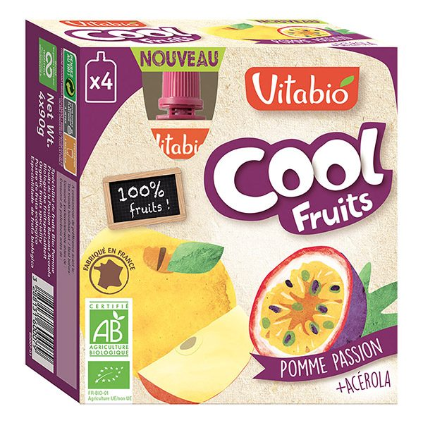 COOL FRUITS POMME PASSION 4X90G