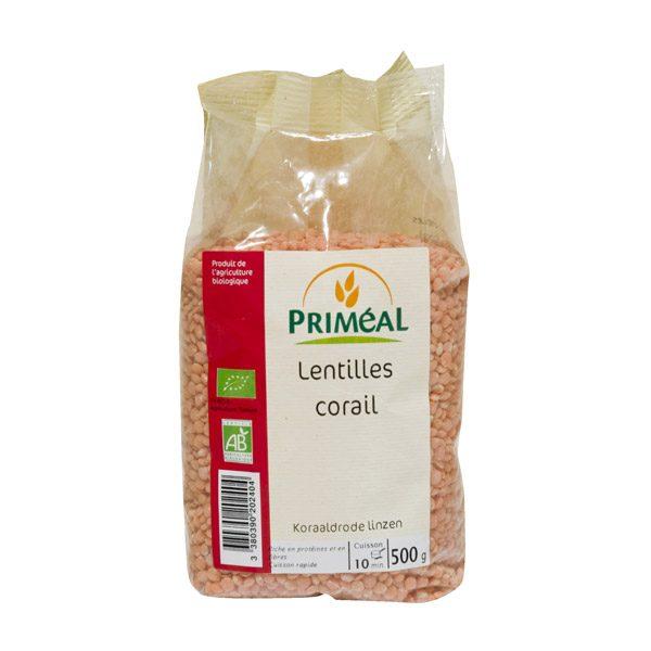primeal-lentilles-corail-bio-500-g